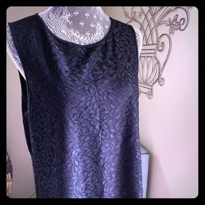 Black lace Tank w/zipper detail